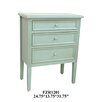 Crestview Collection Celeste 3 Drawer Chest
