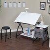 Studio Designs Comet Center Writing Desk with Stool