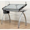"Studio Designs Futura Station Glass 43""W x 24""D Drafting Table"