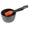 Charcoal Companion Cast Iron Sauce Pot with Silicone Head Basting Brush