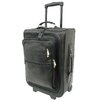 "<strong>Piel Leather</strong> Traveler 19"" Multi-Pocket Wheeler Suitcase"