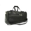 "<strong>Piel Leather</strong> Traveler 21.5"" Leather 2-Wheeled Travel Duffel"