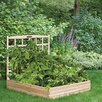 Cedar Raised Garden Bed with Trellis