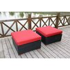 <strong>Bellini Home and Garden</strong> Pasadina Ottomans with Cushions (Set of 2)