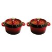 <strong>Mini-Cocotte 2 Piece Cookware Set</strong> by La Cuisine Cookware