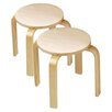 <strong>Wooden Sitting Kid's Stool (Set of 2)</strong> by Anatex