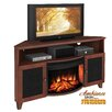 "<strong>Furnitech</strong> Shaker Style Corner 61"" TV Stand with Curved Electric Fireplace"