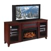 "<strong>Furnitech</strong> Shaker Style 70"" TV Stand with Electric Fireplace"