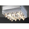 Crysto 4 Light Semi Flush Mount