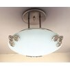PLC Lighting Aroma 1 Light Semi Flush Mount