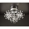PLC Lighting Firework 18 Light Semi Flush Mount