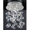PLC Lighting Bubbles 4 Light Chandelier
