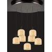 PLC Lighting Cuttle 7 Light Mini Pendant