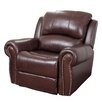Abbyson Living Sedona Leather Chaise Recliner