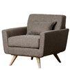 Abbyson Living Paisley Tufted Fabric Armchair