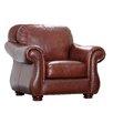 Abbyson Living Harbor Premium Semi-Aniline Leather Armchair