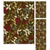 Tayse Rugs Laguna 3 Piece Brown Floral Rug Set