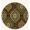 Tayse Rugs Laguna Brown Medallion Rug