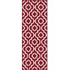 Tayse Rugs Metro Moroccan Tile Red Area Rug