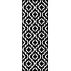 Tayse Rugs Metro Black Moroccan Tile Rug