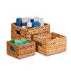 Honey Can Do 3 Piece Nesting Banana Leaf Basket Set