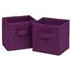 <strong>Honey Can Do</strong> Mini Fabric Storage Bin (Set of 2)
