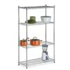 Four Tier Storage Shelves in Chrome