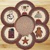 Earth Rugs 7 Piece Winter Trivets in a Basket Set