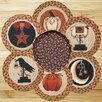 Earth Rugs 7 Piece Autumn Trivets in a Basket Set
