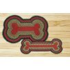<strong>Earth Rugs</strong> Burgundy/Olive Dogbone Novelty Rug