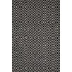 <strong>Dash and Albert Rugs</strong> Woven Diamond Black/Ivory Indoor/Outdoor Rug