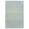 <strong>Dash and Albert Rugs</strong> Woven Diamond Light Blue/Ivory Indoor/Outdoor Rug