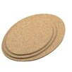 3-Piece Oval Cork Trivet Set