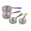 Fox Run Craftsmen Stainless Steel Measuring Cups with Colored Handle (Set of 4)