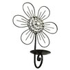 <strong>Hazelwood Home</strong> Floral Metal Sconce
