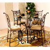 Hazelwood Home Excalibur 5 Piece Counter Height Dinette Set