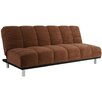 Hazelwood Home Microfiber Pillow Top Futon and Mattress
