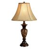 "Hazelwood Home LMP Hazelwood Home 25"" H Table Lamp with Bell Shade"