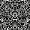 Kreme LLC Handcrafted Folk Damask Wallpaper Sample