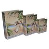 <strong>Cheungs</strong> 3 Piece Book Box with Vintage Tropical Cruise Theme Set