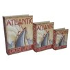 <strong>Cheungs</strong> 3 Piece Book Box with Vintage Atlantic Cruise Liner Theme Set
