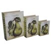 Cheungs 3 Piece Book Box with Vintage Pear Set