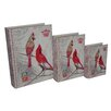 Cheungs 3 Piece Book Box with Vintage Cardinal Duo Set
