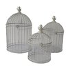 <strong>Cheungs</strong> 3 Piece Open Air Shabby Decorative Bird Cage