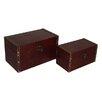 Cheungs 2 Piece Brown Rectangular Keepsake Box Set