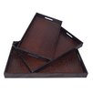 Cheungs 3 Piece Snakeskin Tray Set