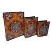 <strong>3 Piece Box with Raised Resin Accent Set</strong> by Cheungs