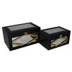 Cheungs 2 Piece Wooden Box Set with Trim & Bevelled Mirrors