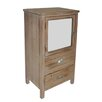 <strong>2 Drawer Wood Cabinet with Mixed Knobs and Bevelled Mirrored Door</strong> by Cheungs