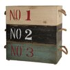 Cheungs Wooden Crate with Rope Handles (Set of 3)